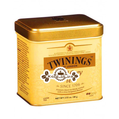 Чай TWININGS Earl Grey Tea Ерл Грей 100 г ж / б (070177029623)