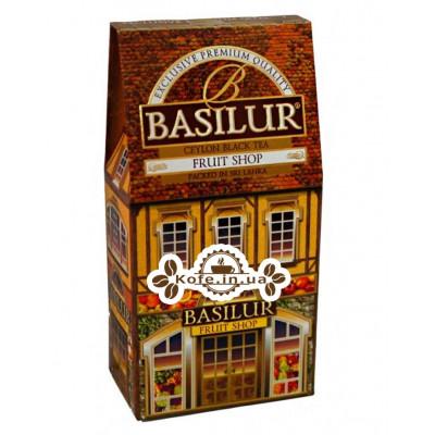 Чай BASILUR Fruit Shop Фруктовый Магазин - Домики 100 г к/п (4792252927308)