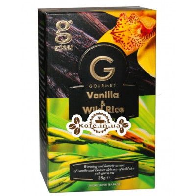 Чай GRACE! Gourmet Vanilla Wild Rice Ваніль Дикий Рис 20 х 1,75 г (5060207697415)