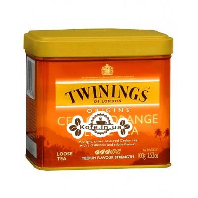 Чай TWININGS Ceylon Orange Pekoe Цейлонський Оранж Пеко 200 г ж / б