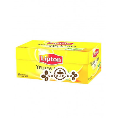 Чай LIPTON Yellow Label Чорний 50 x 2 г (4823084200021)