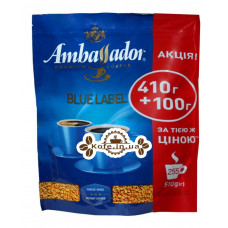 Кава Ambassador Blue Label розчинна 410 г + 100 г економ.пак. (8719325224245)