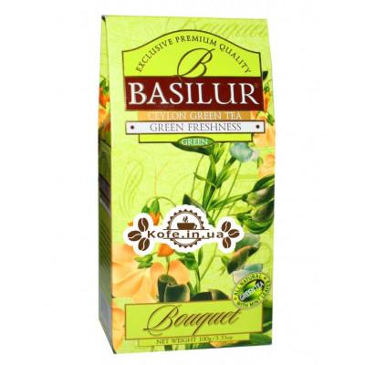 Чай BASILUR Green Freshness Зеленая Свежесть - Букет 100 г к/п (4792252100268)