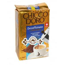 Кофе Chicco d'Oro Decaffeinato Cuor d'Oro без кофеина молотый 250 г (7610899220255)