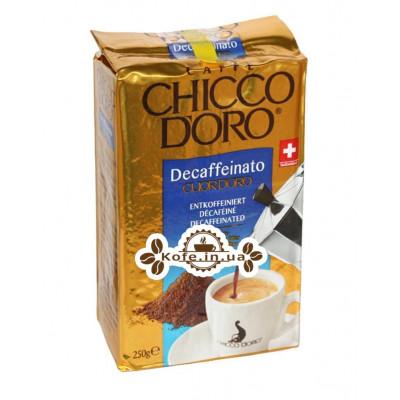 Кава Chicco d'Oro Decaffeinato Cuor d'Oro без кофеїну мелена 250 г (7610899220255)