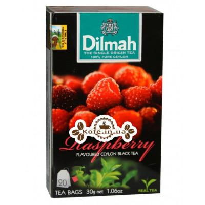 Чай Dilmah Black Tea Raspberry Малина 20 x 1,5 г (9312631142211)