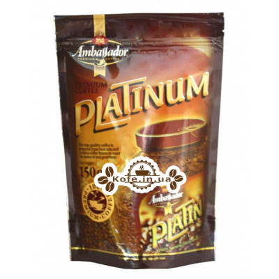 Кофе Ambassador Platinum растворимый 150 г эконом. пак. (8718868141712)