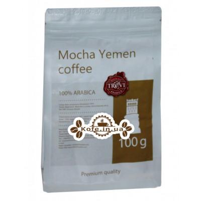 Кофе Trevi Арабика Yemen Mocha Йемен Мокка зерновой 100 г (4820140050934)