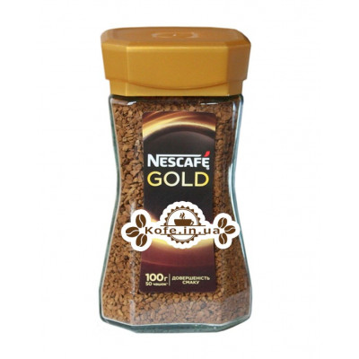 Кофе Nescafe Gold растворимый 100 г ст. б.