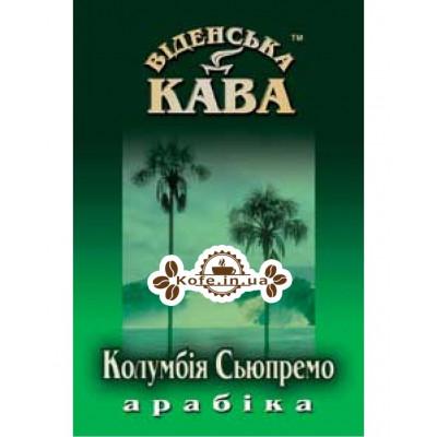 Кава Віденська Кава Арабіка Колумбія Супремо зернова 500 г