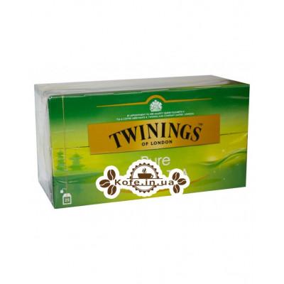 Чай TWININGS Pure Green Tea Зелений 25 х 2 г (070177086664)