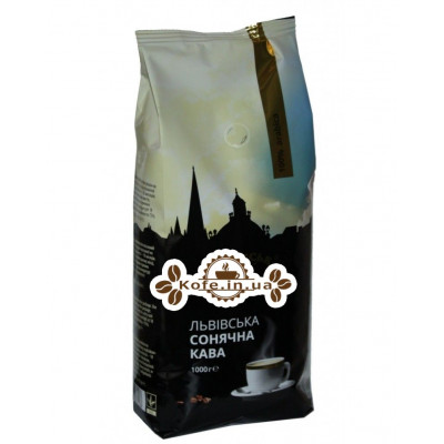 Кава Віденська Кава Львівська Сонячна Кава зернова 1 кг (4820000371568)