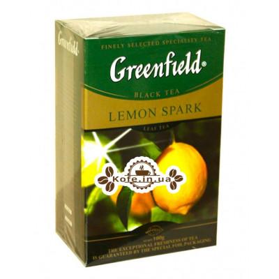 Чай Greenfield Lemon Spark Черный с Лимоном 100 г к/п (4823096802268)