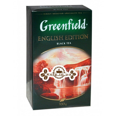 Чай Greenfield English Edition Английская Коллекция 100 г к/п (4823096805757)