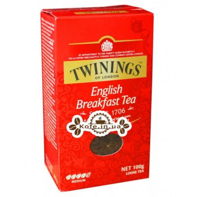 Чай TWININGS English Breakfast Английский Завтрак 100 г к/п