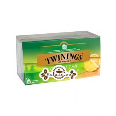 Чай TWININGS Green Tea Pineapple Grapefruit Зелений Ананас Грейпфрут 25 х 1,5 г (070177173753)