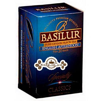 Чай BASILUR English Afternoon Английский Полдник - Избранная Классика 20 х 2 г (4792252100879)