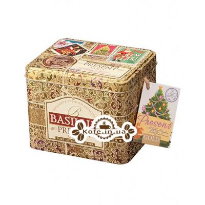 Чай BASILUR Gold Caddy Золотий Подарунок - Святкова 100 г ж / б (4792252100190)