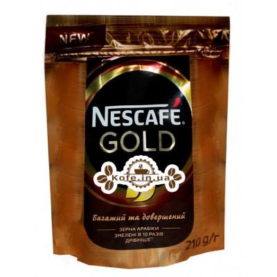 Кава Nescafe Gold цільнозернова розчинна 210 г економ. пак. (7613035443600)