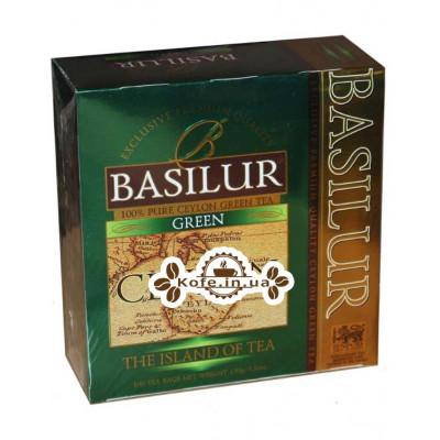 Чай BASILUR Green Зелений - Чайний Острів 100 х 1,5 г (4792252925915)