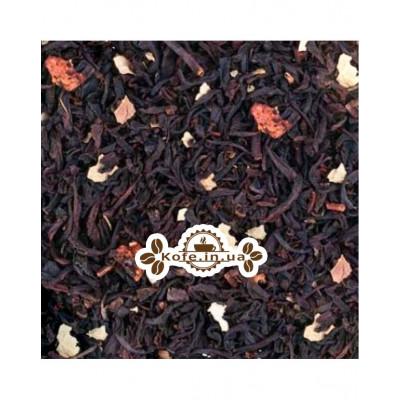 Суничний з Ароматом Сливок чорний ароматизований чай Країна Чаювання 100 г ф / п