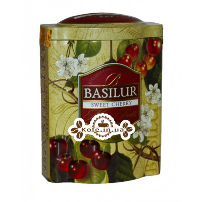 Чай BASILUR Sweet Cherry Черешня - Чарівні Фрукти 100 г ж / б (4792252918061)