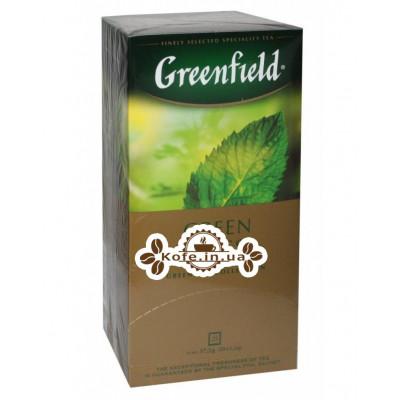 Чай Greenfield Green Melissa Мелісса 25 х 1,5 г (4823096802343)