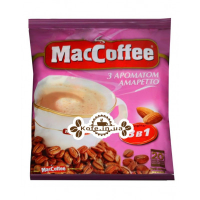 Кава MacCoffee 3в1 Amaretto Амаретто розчинна 20 х 18 г економ.пак. (8887290109888)