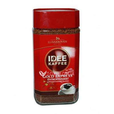 Кава JJ DARBOVEN IDEE KAFFEE Gold Express decaffeeinated розчинна 200 г ст. б. (4006581505312)