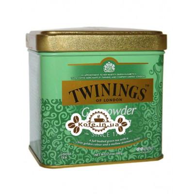 Чай TWININGS Gunpowder Green Зелений Порох 100 г ж / б (070177029784)