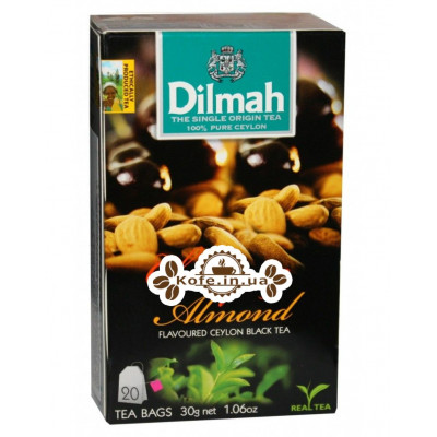 Чай Dilmah Black Tea Cherry Almond Вишня Миндаль 20 x 1,5 г (9312631142082)
