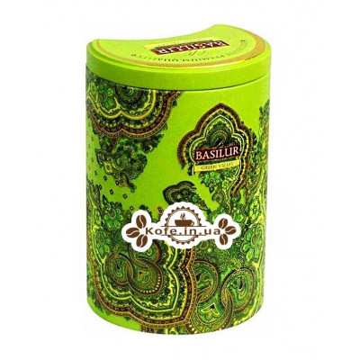 Чай BASILUR Green Valley Зеленая Долина - Восточная 100 г ж/б (4792252924635)