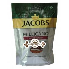 Кофе Jacobs Millicano Americano цельнозерновой растворимый 150 г эконом. пак. (8714599101575)
