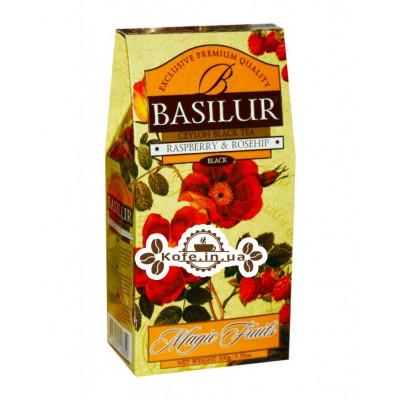 Чай BASILUR Raspberry Rosehip Малина Шипшина - Чарівні Фрукти 100 г к / п (4792252100350)