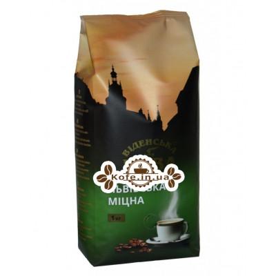 Кава Віденська Кава Львівська Міцна Кава зернова 1 кг (4820000371100)