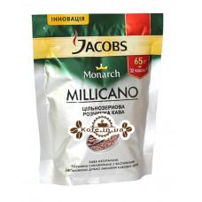 Кава Jacobs Monarch Millicano цільнозернова розчинна 65 г економ. пак.