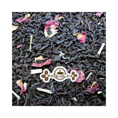 Имбирь-Лимонграс черный ароматизированный чай Чайна Країна 100 г п/п