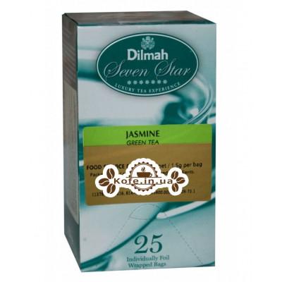 Чай Dilmah Seven Star Green Tea Jasmine Жасмин 25 x 1,5 г