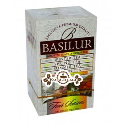 Чай BASILUR Assorted Four Seasons Асорті - Пори Року 20 х 2 г (4792252916227)
