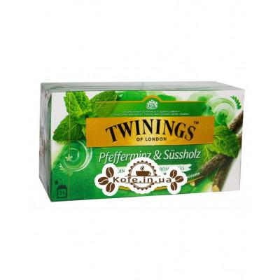 Чай TWININGS Peppermint Liquorice М'ята Лакрица 25 х 2 г (070177162054)