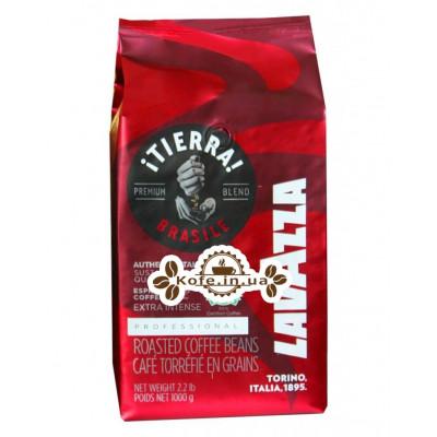 Кава Lavazza Tierra Brazile Extra Intense зернова 1 кг (8000070025264)