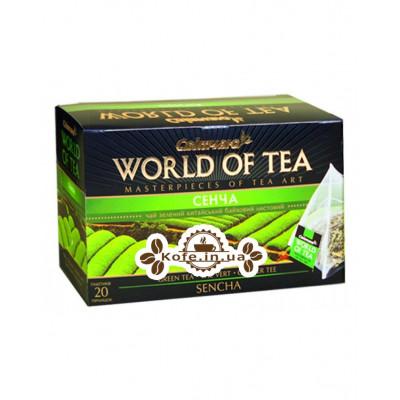 Сенча Китай зелений класичний чай Світ чаю 20 х 3 г
