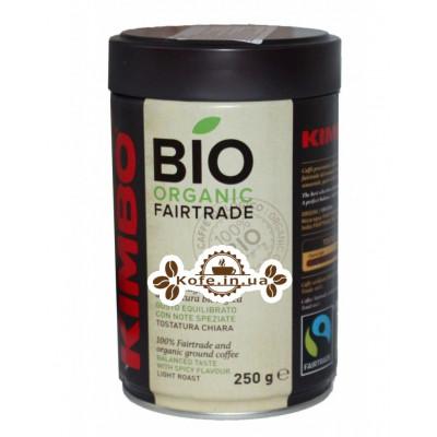 Кава KIMBO Bio Organic Fairtrade мелена 250 г ж / б (8002200101558)