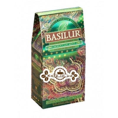 Чай BASILUR Moroccan Mint Марокканська М'ята - Східна 100 г к / п (4792252916487)