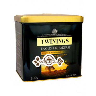 Чай TWININGS English Breakfast Англійська Сніданок 200 г ж / б (070177247461)