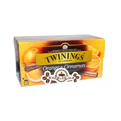 Чай TWININGS Orange Cinnamon Апельсин Кориця 25 х 2 г (070177071349)