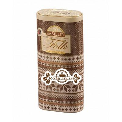 Чай BASILUR Folk Brown Коричневый - Вязаная 100 г ж/б (4792252917644)