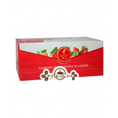 Чай Julius Meinl Garden Strawberry Rhubarb Полуниця Ревінь 25 х 2,5 г (9000403885939)
