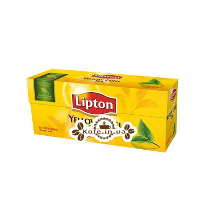 Чай LIPTON Yellow Label Черный 25 x 2 г (4823084200038)