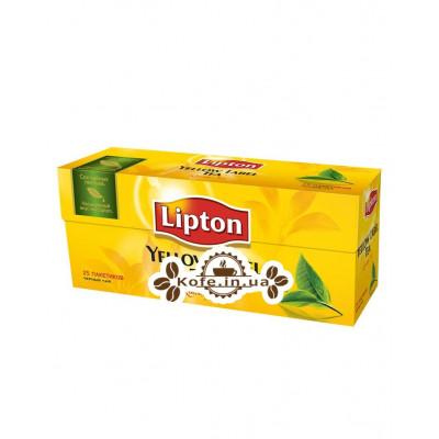 Чай LIPTON Yellow Label Чорний 25 x 2 г (4823084200038)